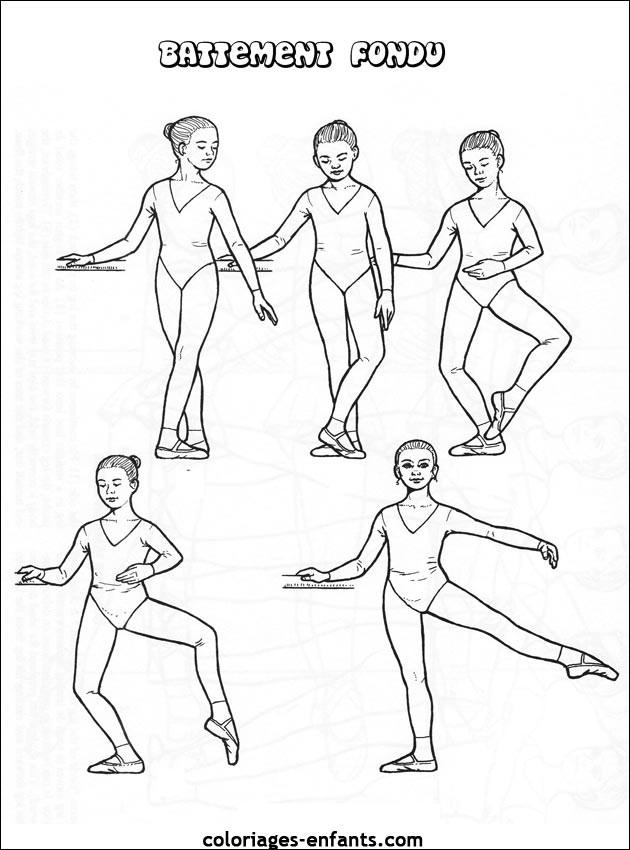 Coloriage Danse Ballet Battement Fondu Dessin Gratuit À à Coloriage Danseuse A Imprimer Gratuit