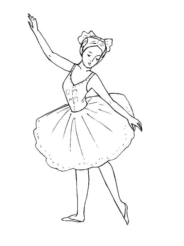 Coloriage Danse Ballet Classique En Couleur Dessin Gratuit à Coloriage Danseuse A Imprimer Gratuit