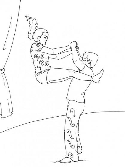 Coloriage Danse Contemporaine Dessin Gratuit À Imprimer encequiconcerne Coloriage De Danseuse Classique A Imprimer