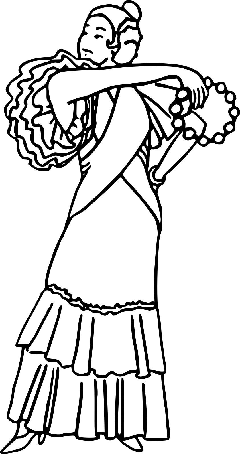 Coloriage Danse De Flamenco À Imprimer Sur Coloriages encequiconcerne Coloriage Danseuse A Imprimer Gratuit