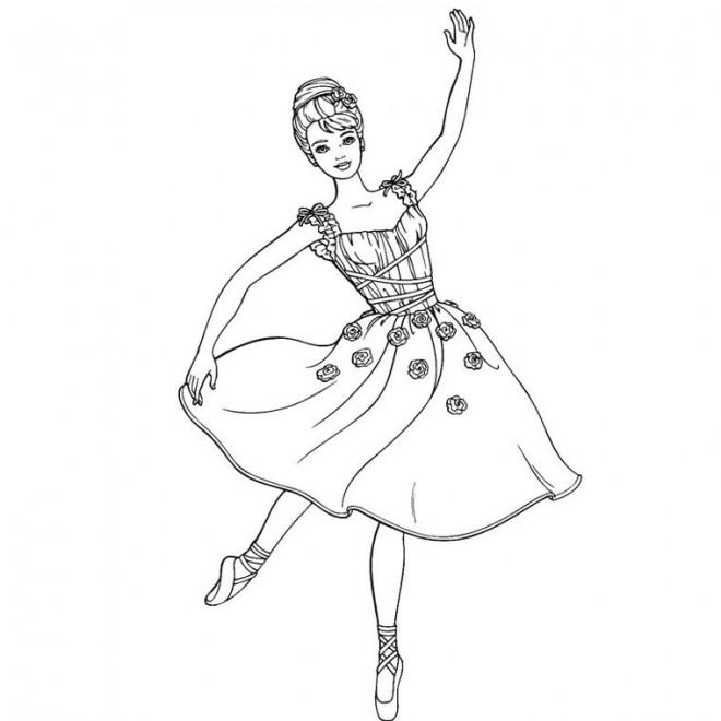 Coloriage Danseuse Étoile Dessin Gratuit À Imprimer à Coloriage Danseuse A Imprimer Gratuit