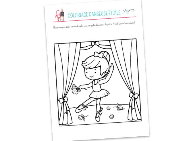Coloriage Danseuse - Momes à Coloriage Danseuse Étoile