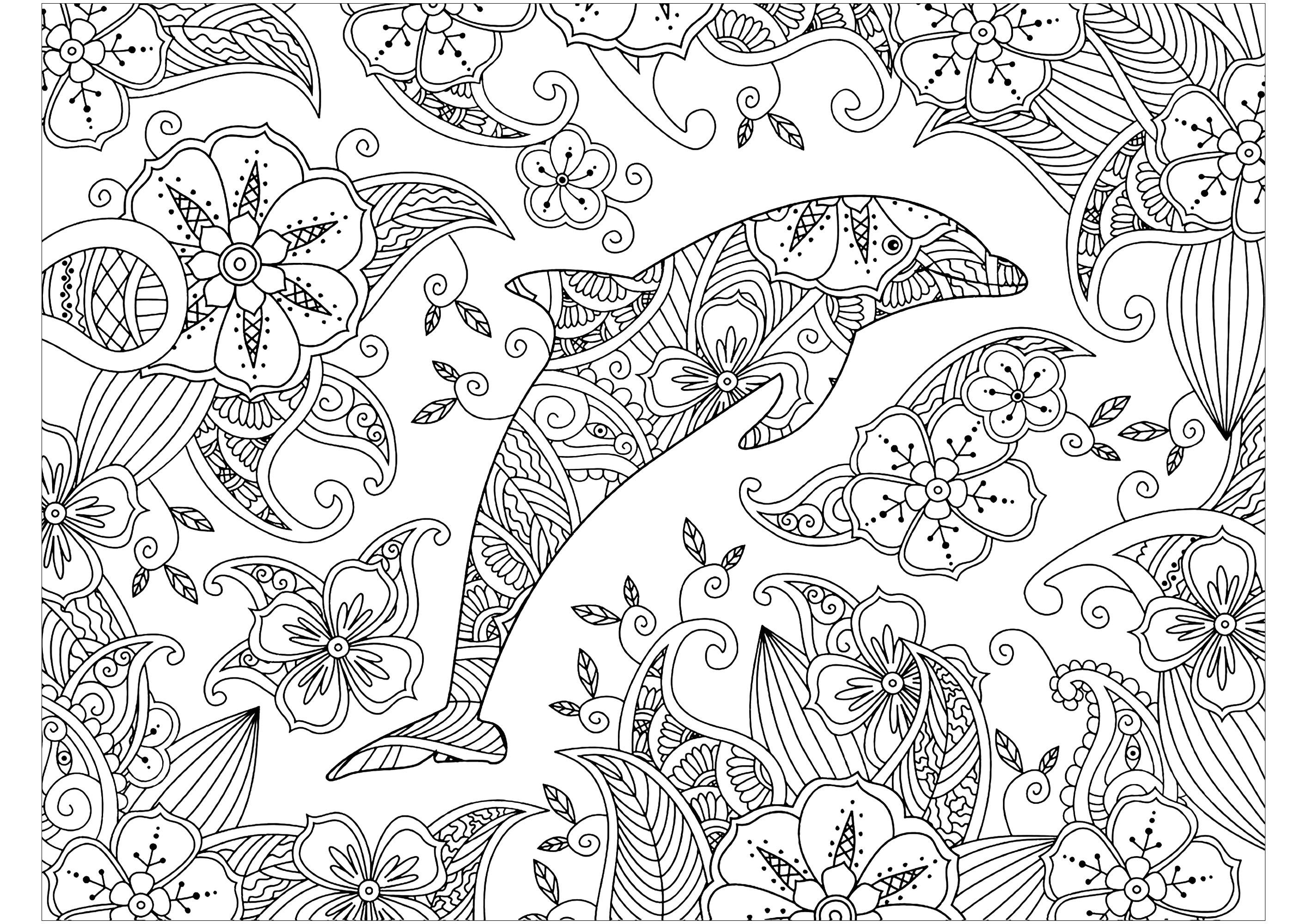 Coloriage Dauphin | Coloriage tout Coloriage Dauphin En Ligne