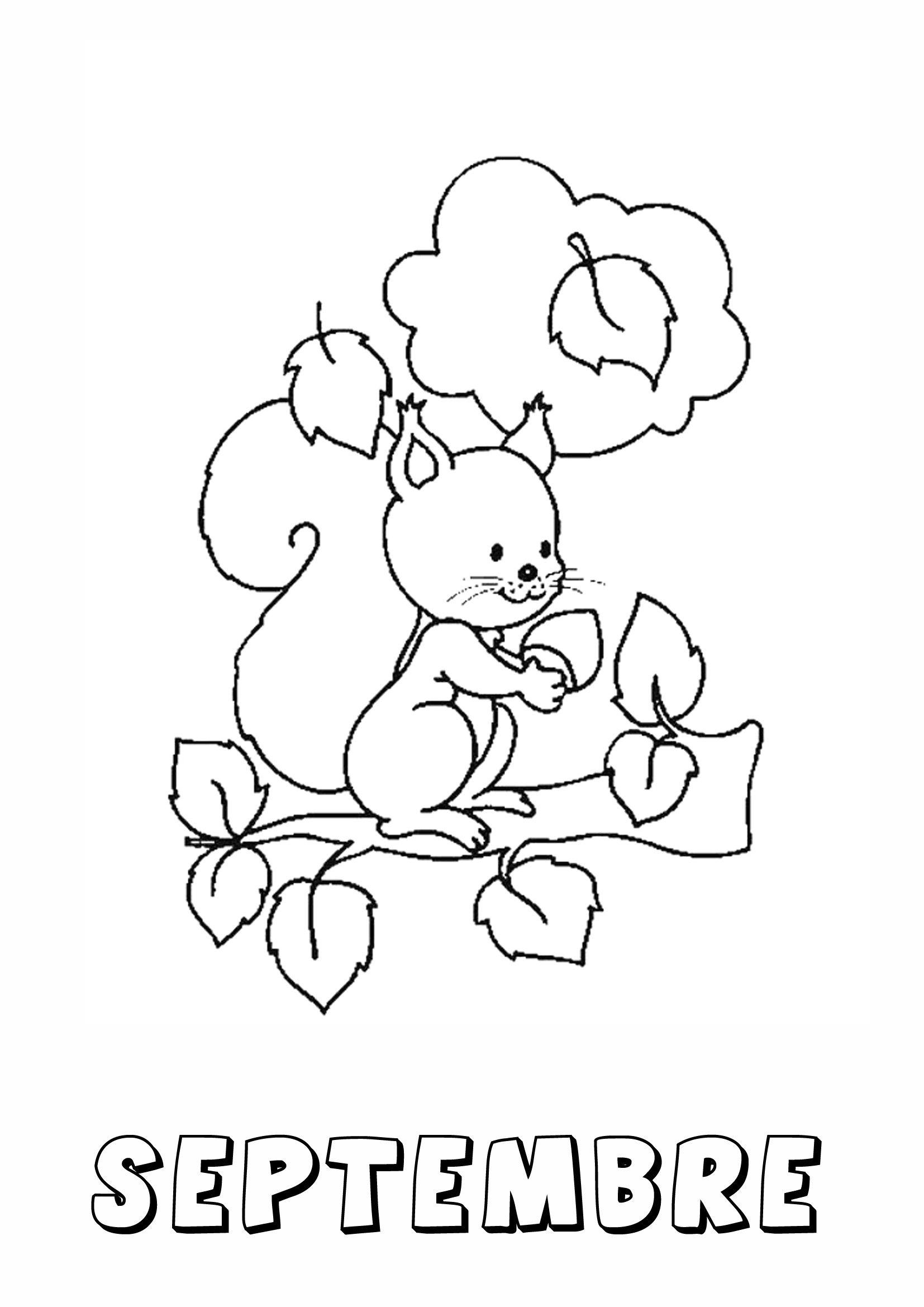Coloriage D'automne En Maternelle Fantastique Image pour Coloriage Automne