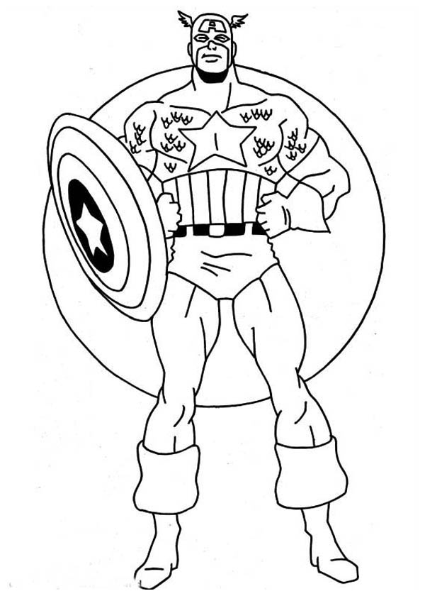 Coloriage De Captain America avec Coloriage Captain America