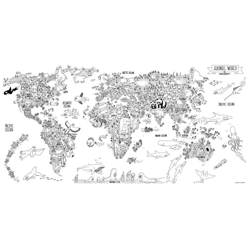 Coloriage De Carte Du Monde - Ohbq encequiconcerne Mappemonde ? Imprimer
