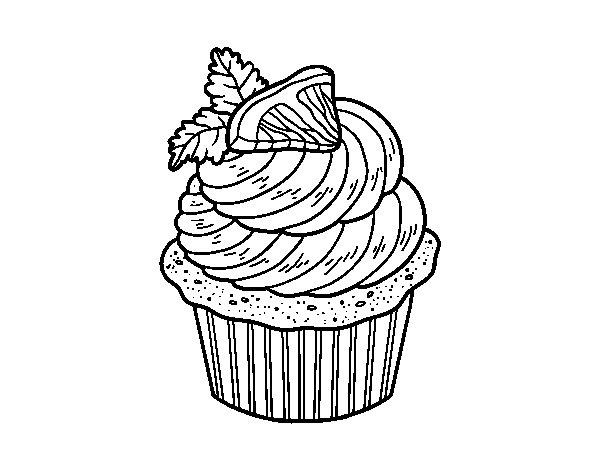 Coloriage De Cupcake Au Citron Pour Colorier - Coloritou dedans Coloriage De Cupcake