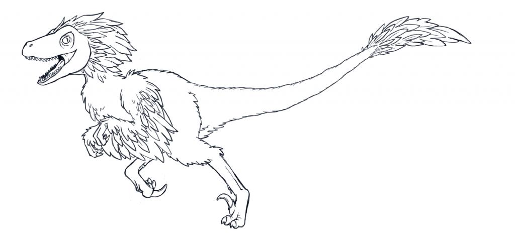 Coloriage De Dinosaure - Dessins Faciles À Colorier Et À dedans Coloriage Dinosaure Raptor