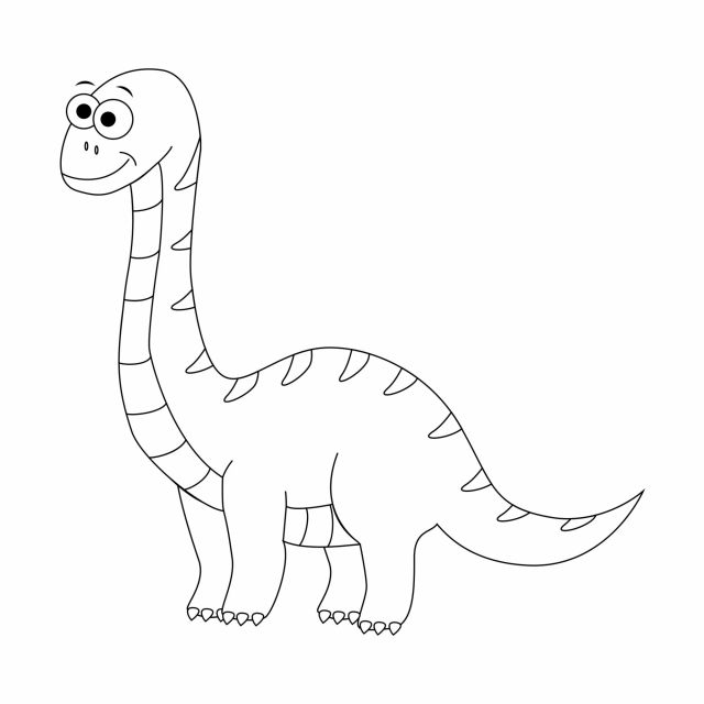 Coloriage De Dinosaure : Le Diplodocus intérieur Dessin À Colorier Dinosaure