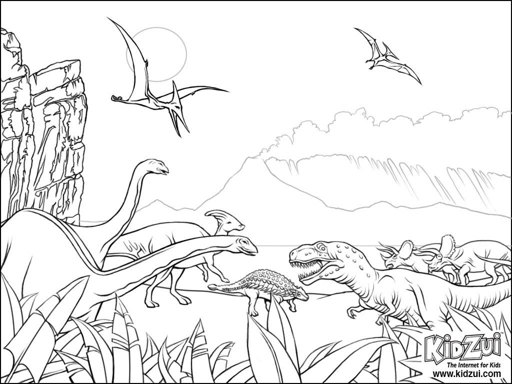 Coloriage De Dinosaure | My Blog pour Dessin À Colorier Dinosaure