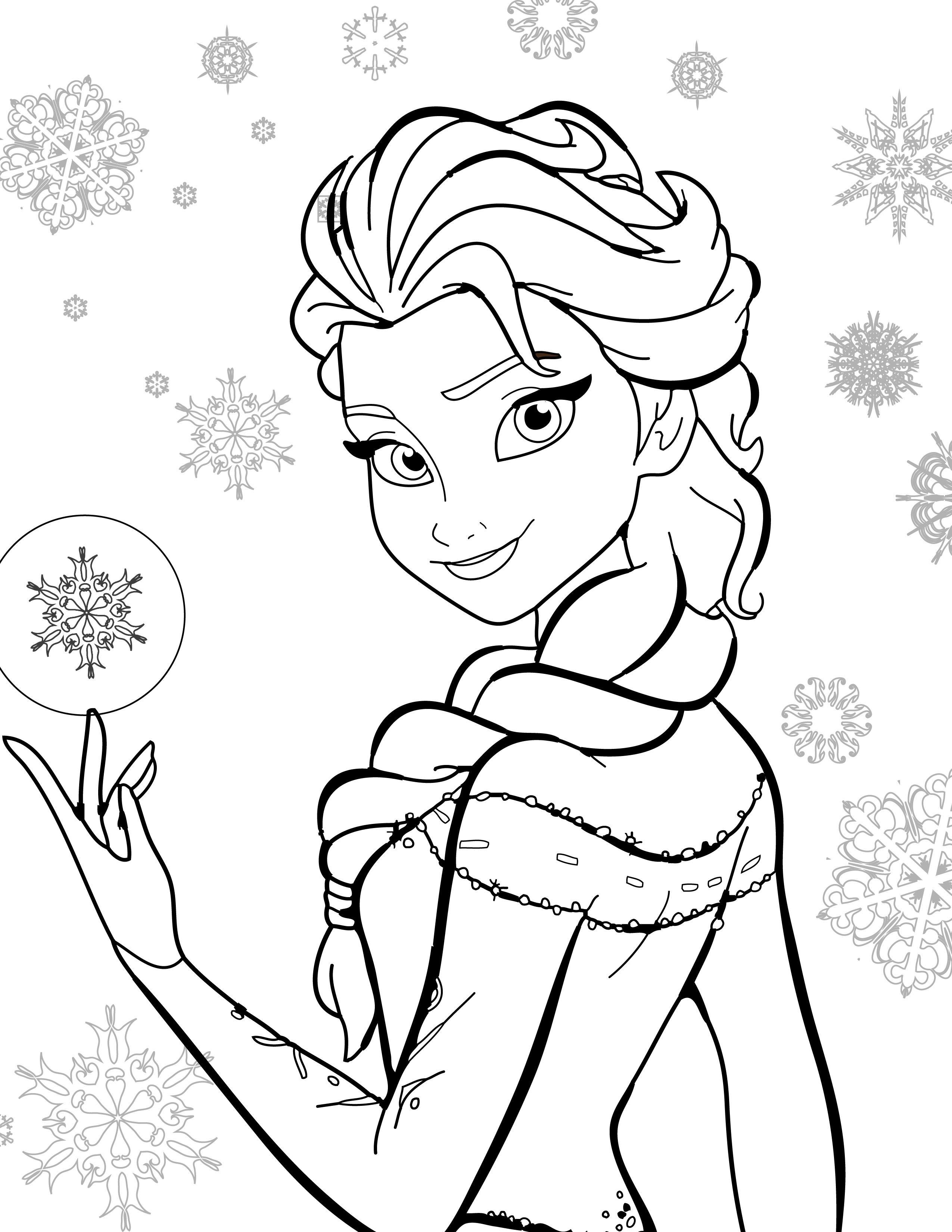 Coloriage De Disney Gratuit, Elsa Frozen (Avec Images) | Coloriage Elsa, Coloriage Reine Des dedans Coloriage Mandala Disney À Imprimer Gratuit