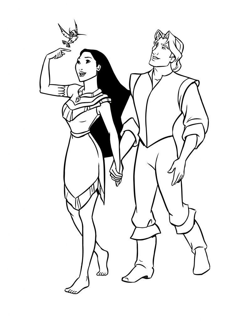 Coloriage De Disney Pocahontas Princesse À Imprimer avec Coloriage De Princesses Disney A Imprimer