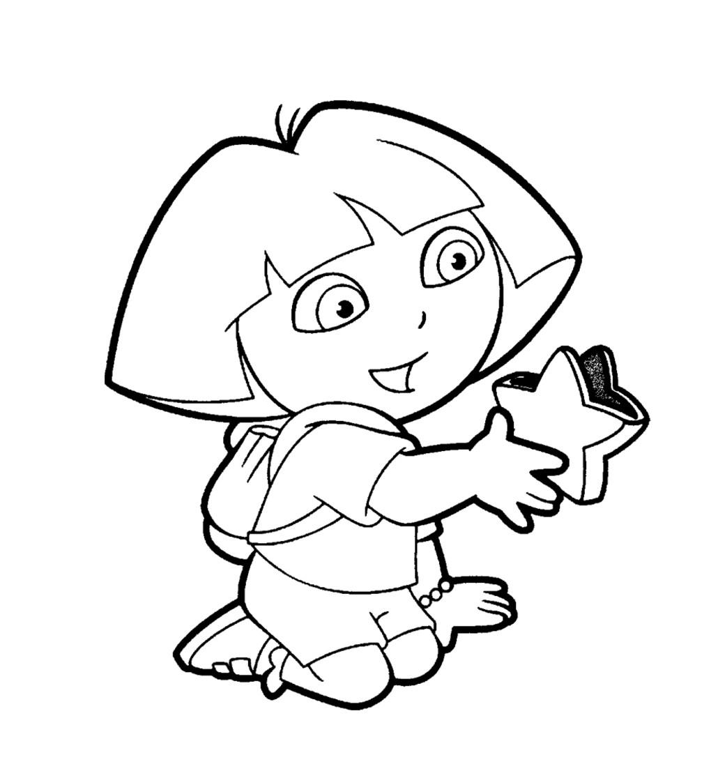Coloriage De Dora 2 | 321 Coloriage tout Coloriage Dora À Imprimer