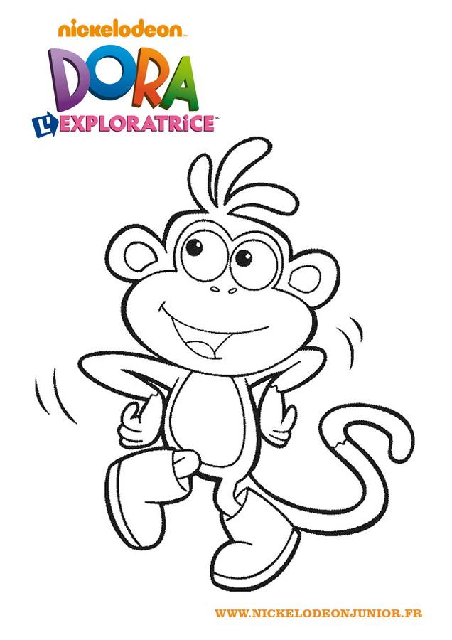 Coloriage De Dora A Imprimer dedans Jeux De Dessin Dora