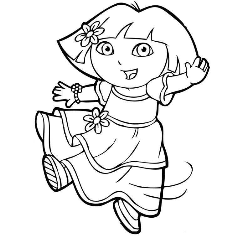 Coloriage De Dora La Danseuse - Coloriages De Dora L concernant Coloriage De Dora En Ligne