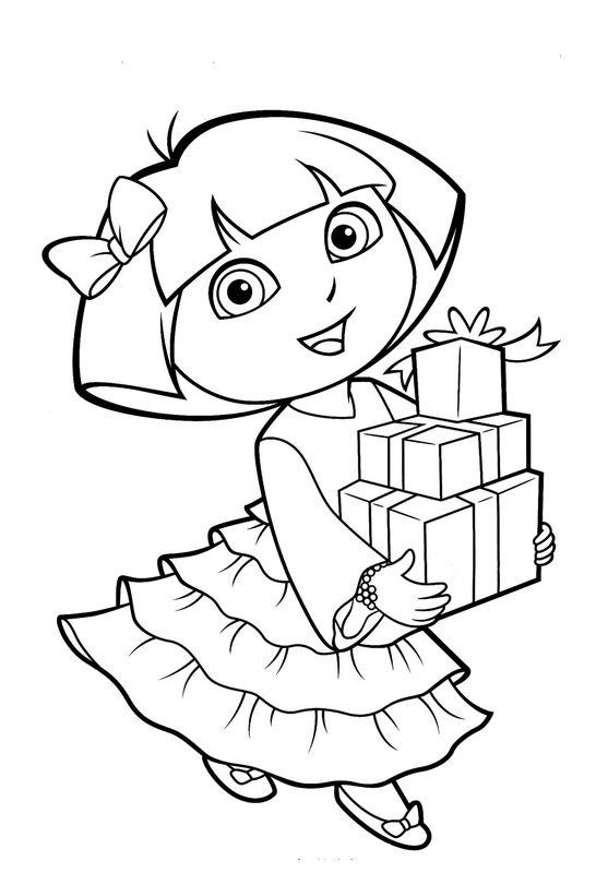 Coloriage De Dora L'Exploratrice, Dessin Dora Et Ses concernant Coloriage De Dora En Ligne