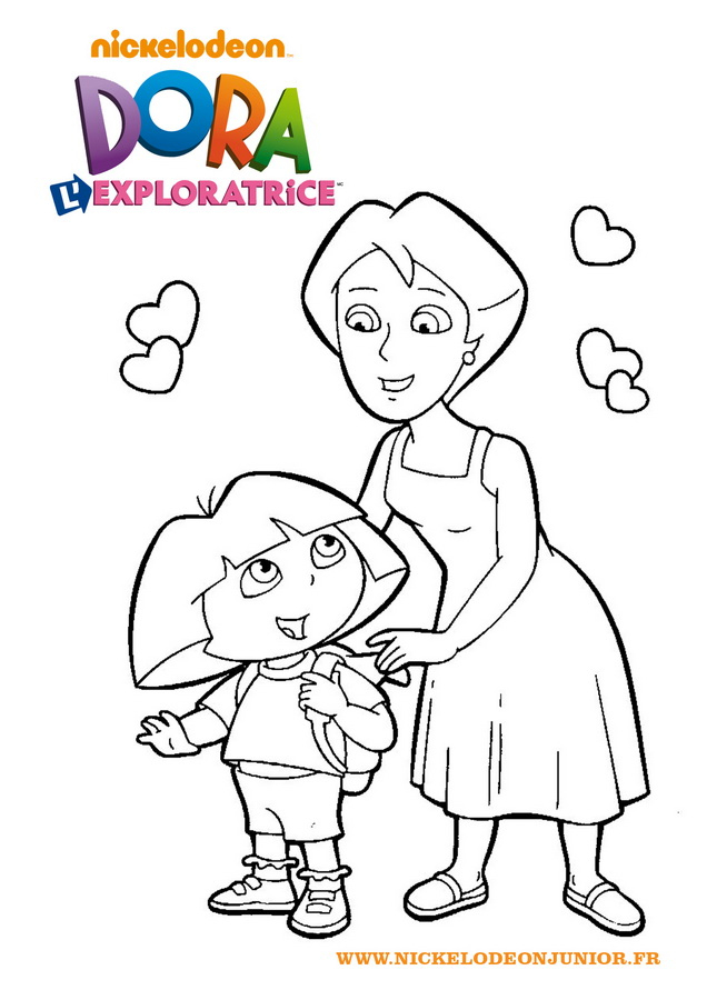 Coloriage De Dora L'Exploratrice serapportantà Jeux De Dessin Dora