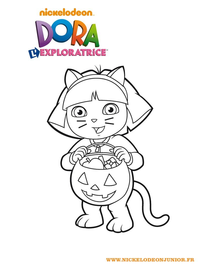 Coloriage De Dora | My Blog destiné Coloriage Dora À Imprimer