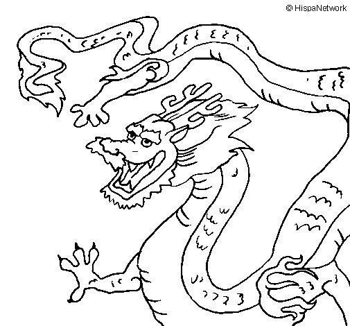 Coloriage De Dragon Chinois Pour Colorier - Coloritou à Coloriage Dragon Chinois