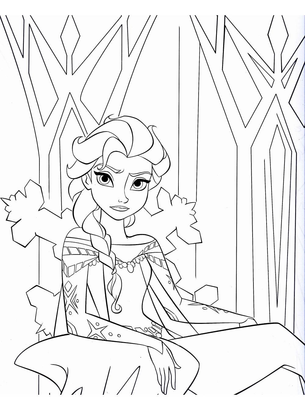 Coloriage De Elsa La Reine Des Neiges À Telecharger pour Telecharger Des Coloriage