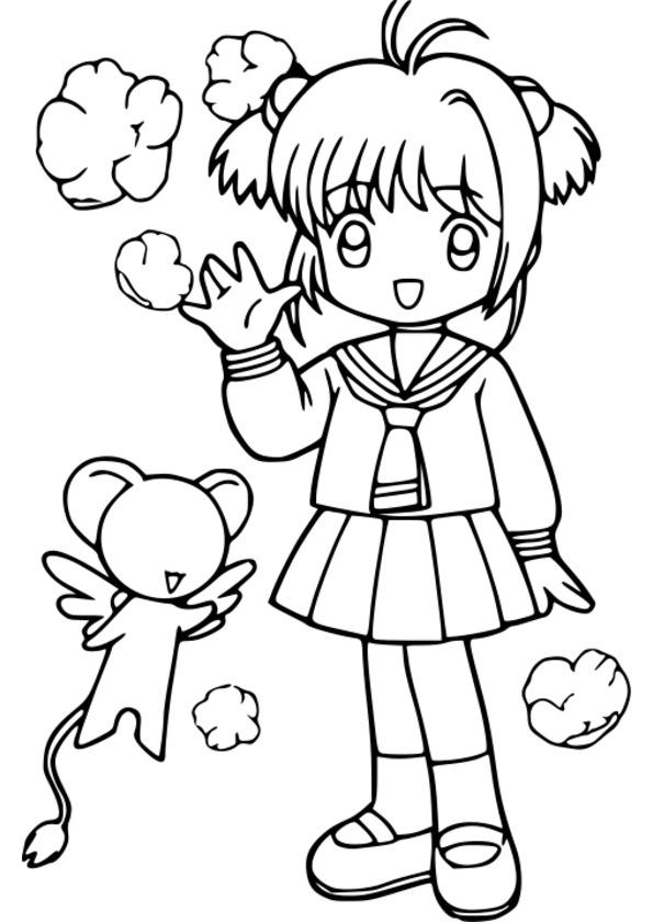 Coloriage De Fille Manga A Imprimer dedans Coloriage Fille À Imprimer Gratuit
