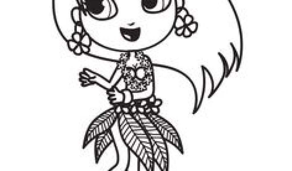 Coloriage De Fleur De Tahiti A Colorier Une Jolie Danseuse concernant Coloriage Hawaienne
