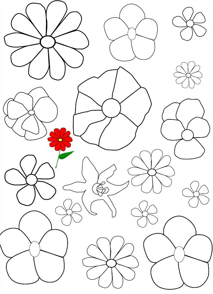 Coloriage De Fleurs Gratuit À Imprimer Et Colorier destiné Coloriage Fleur