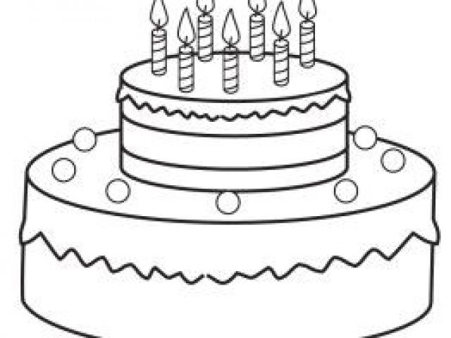 Coloriage De Gateau D Anniversaire 7 Ans Birthday Cake serapportantà Coloriage Anniversaire 7 Ans