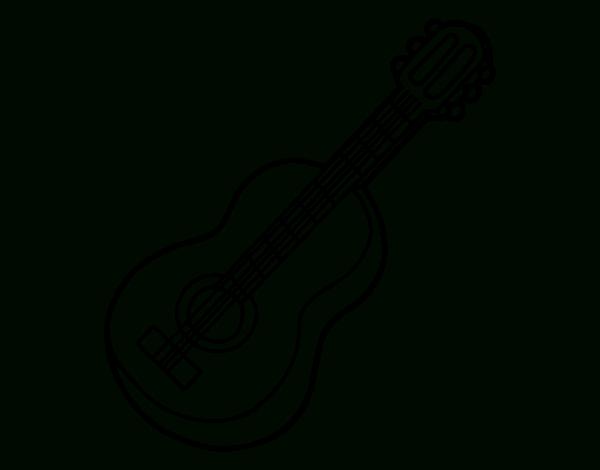 Coloriage De Guitare Classique Pour Colorier - Coloritou à Coloriage Guitare
