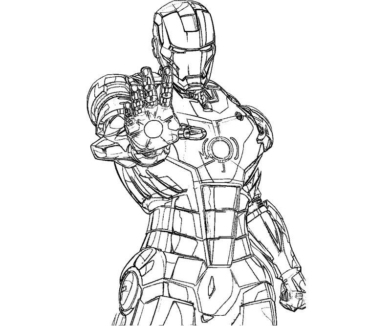 Coloriage De Iron Man intérieur Coloriage Iron Man À Imprimer