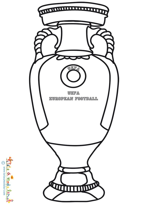 Coloriage De La Coupe Trophée De L'euro 2016 intérieur Coupe Du Monde Dessin