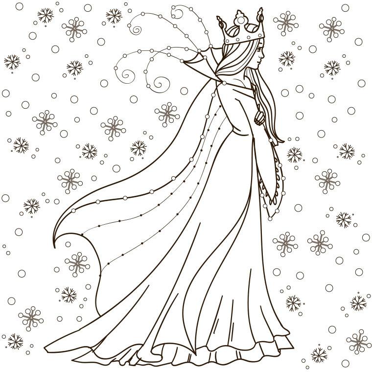 Coloriage De La Reine Des Neiges A Imprimer Gratuit – 3 Design dedans Jeux De Reine Des Neige Gratuit