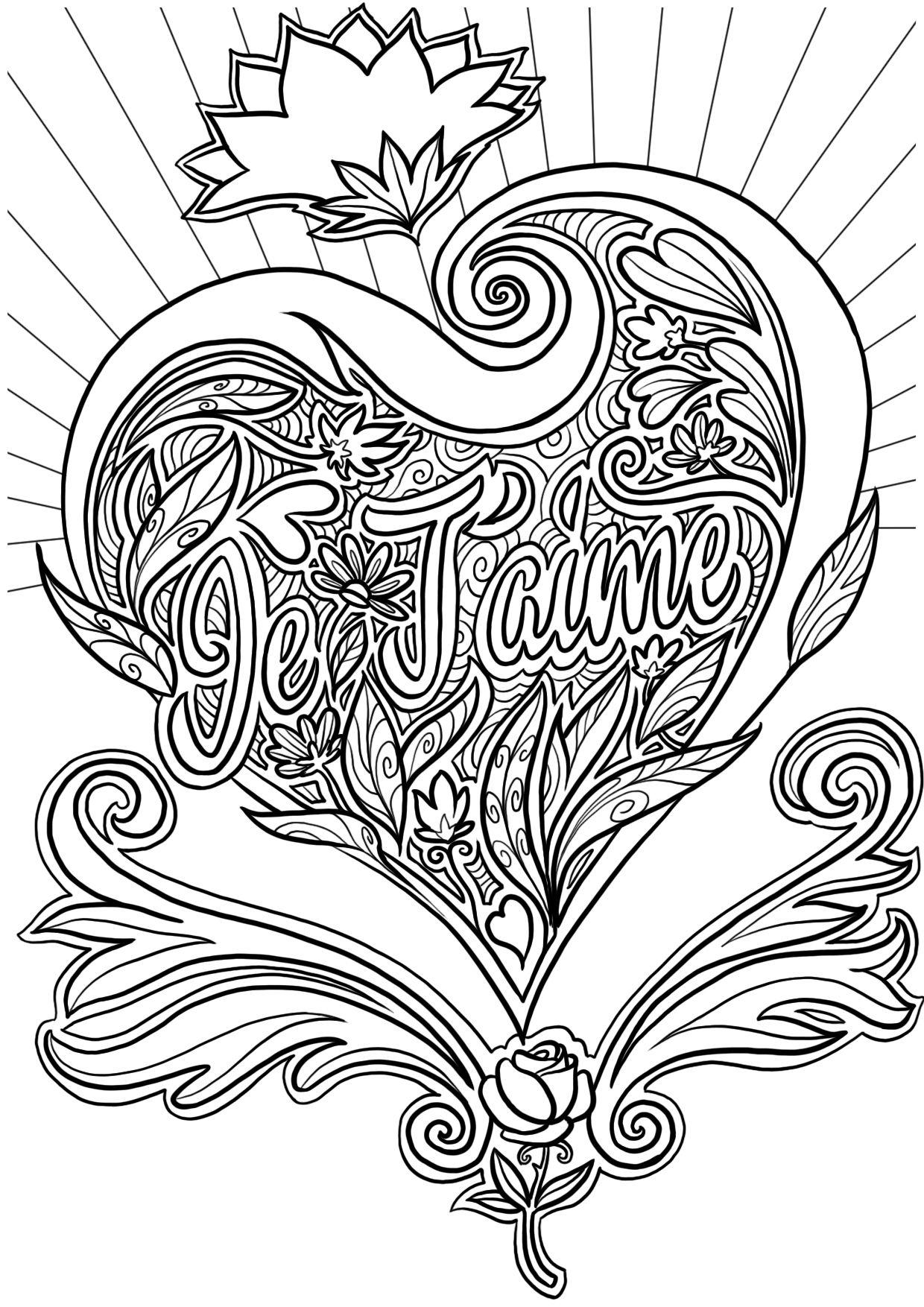 Coloriage De La Saint-Valentin | Coloriage Coeur intérieur Dessin A Imprimer Coeur