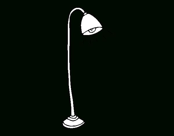 Coloriage De Lampadaire Pour Colorier - Coloritou dedans Coloriage Lampe