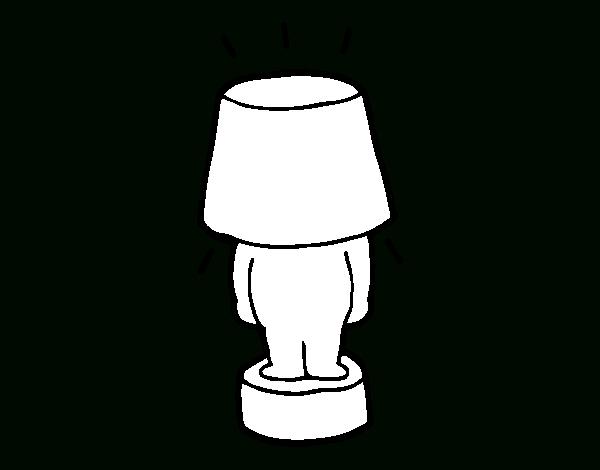 Coloriage De Lampe Drôle Pour Colorier - Coloritou intérieur Coloriage Lampe