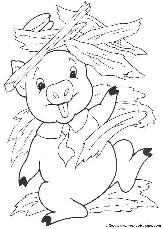 Coloriage De Les 3 Petits Cochons, Dessin Coloriage Trois intérieur Dessin Des 3 Petit Cochon