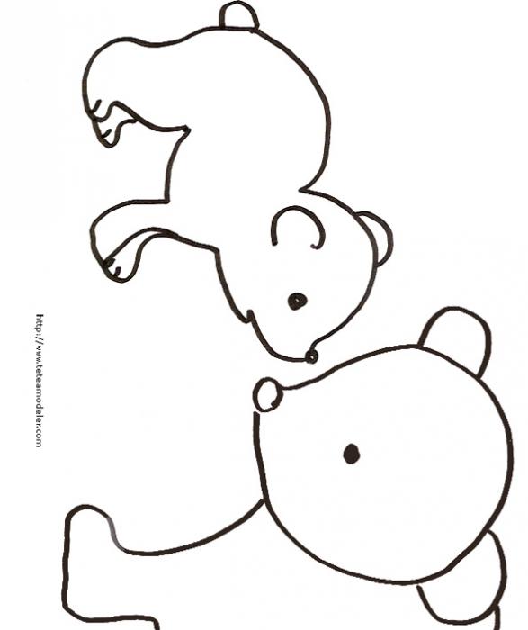 Coloriage De Maman Ourse Et Son Petit Ourson - Tête À Modeler à Coloriage D Ourson A Imprimer