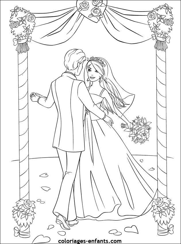 Coloriage De Mariage À Imprimer Sur Coloriages-Enfants serapportantà Coloriages A Imprimer