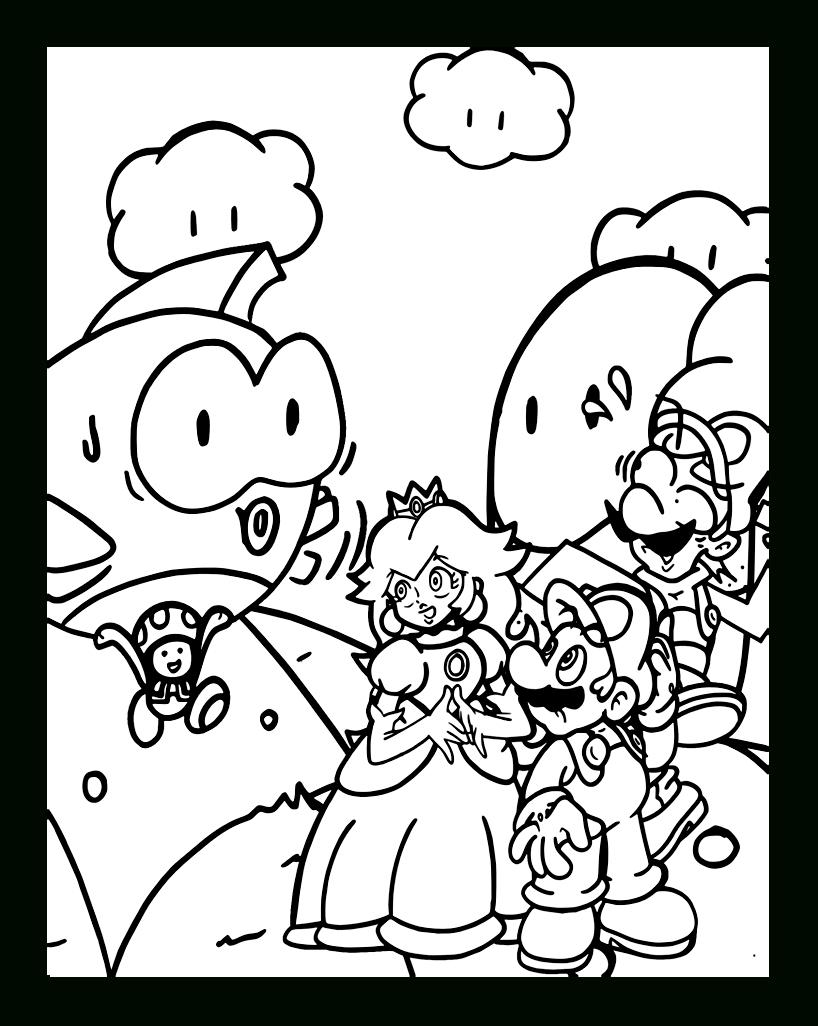 Coloriage De Mario Bros À Imprimer Gratuitement serapportantà Dessin À Imprimer Mario