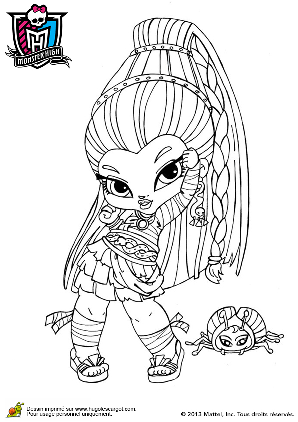 Coloriage De Monster High A Imprimer En Couleur – 123Coloriage avec Coloriage Gratuit Monster High À Imprimer