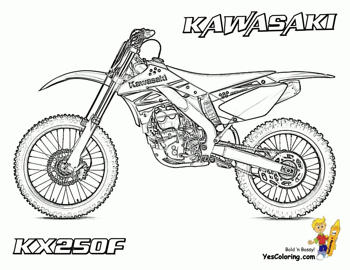 Coloriage De Moto Cross | Coloriage Moto, Moto Cross intérieur Coloriage Moto Cross A Imprimer Gratuit