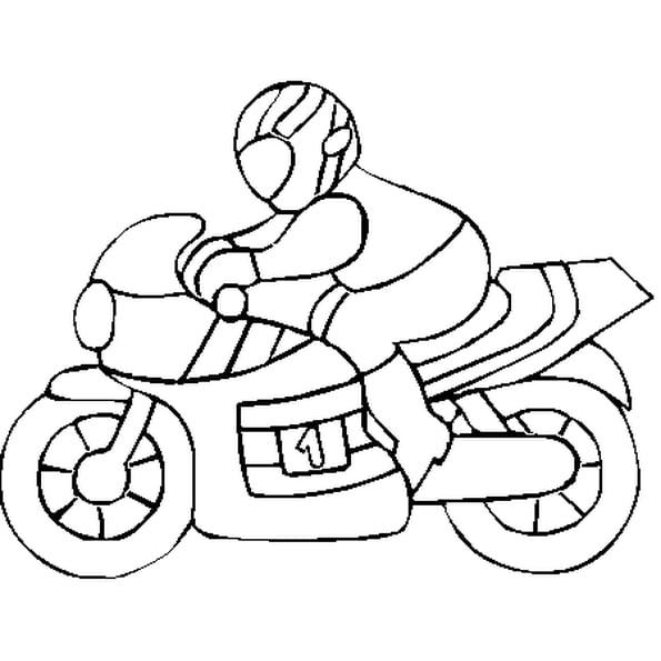 Coloriage De Moto En Ligne Gratuit À Imprimer avec Coloriage A Imprimer Gratuits
