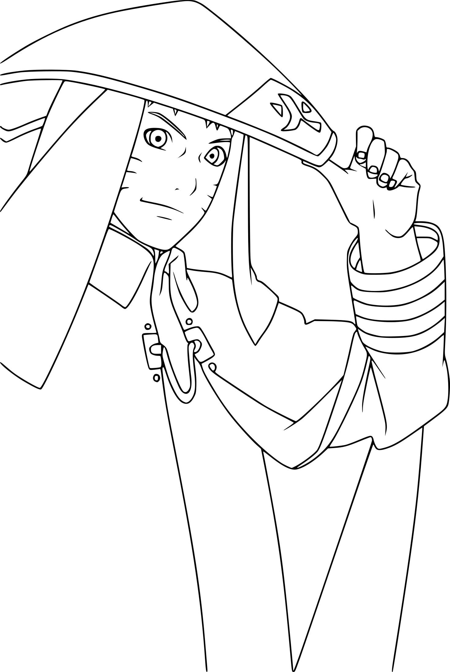 Coloriage De Naruto Hokage À Imprimer Sur Coloriage De serapportantà Dessin De Naruto