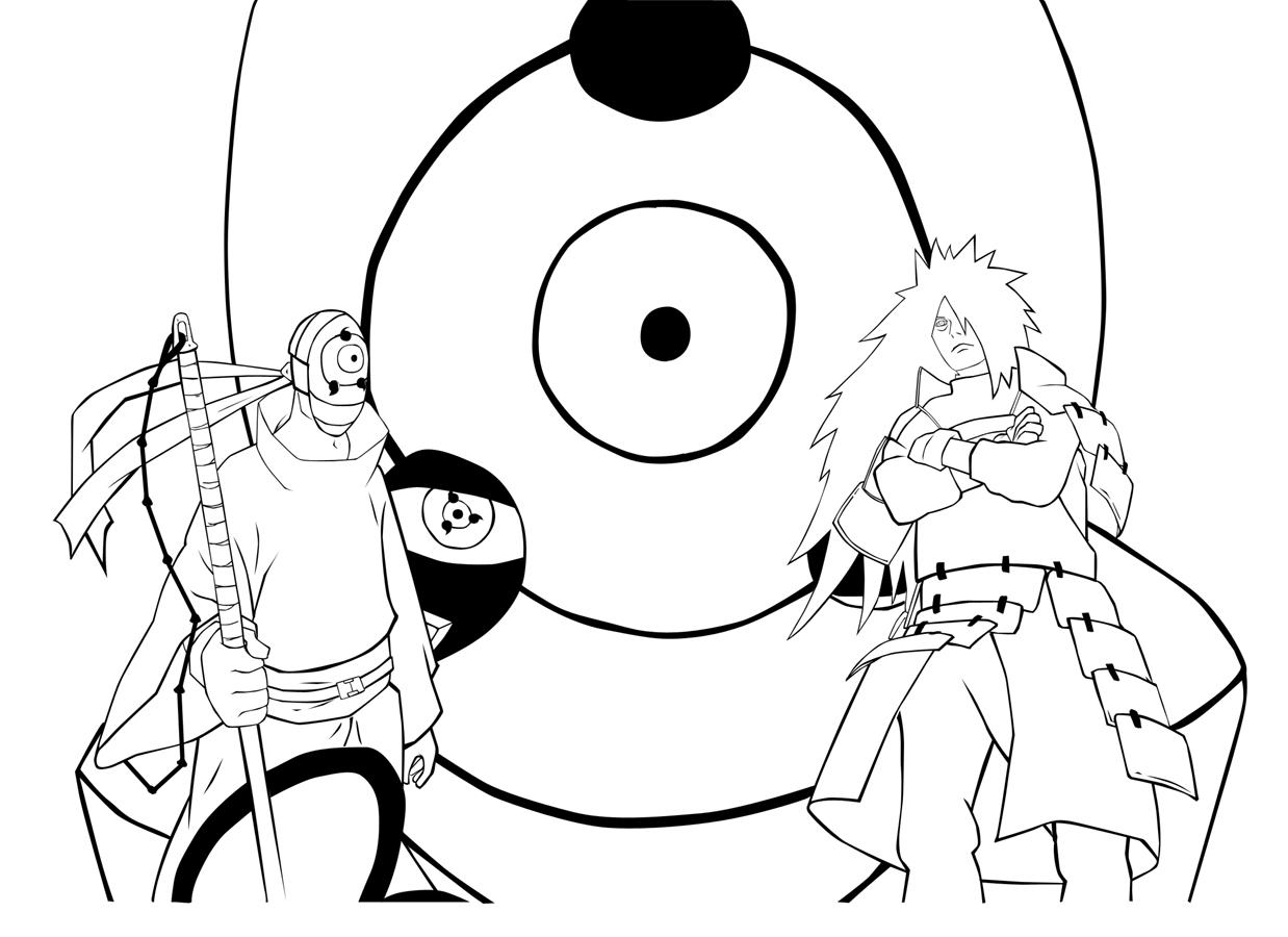 Coloriage De Naruto Shippuden A Imprimer pour Naruto Shipp?Den Coloriage
