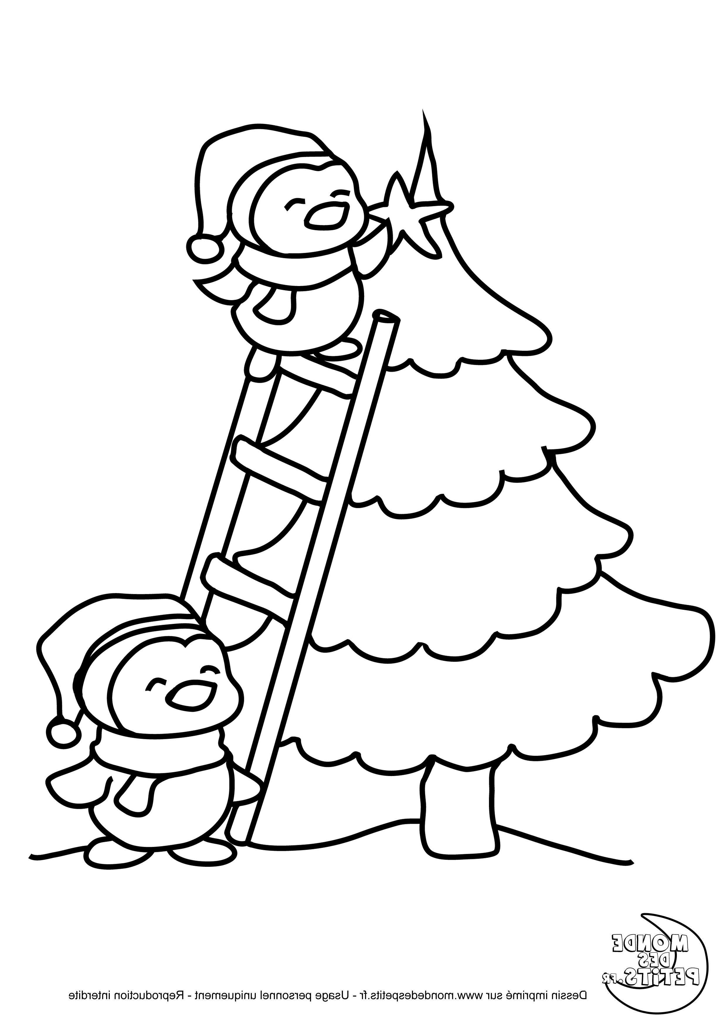 Coloriage De Noël . 15 Divers Coloriage De Noël Collection tout Image De Dessin De Noel