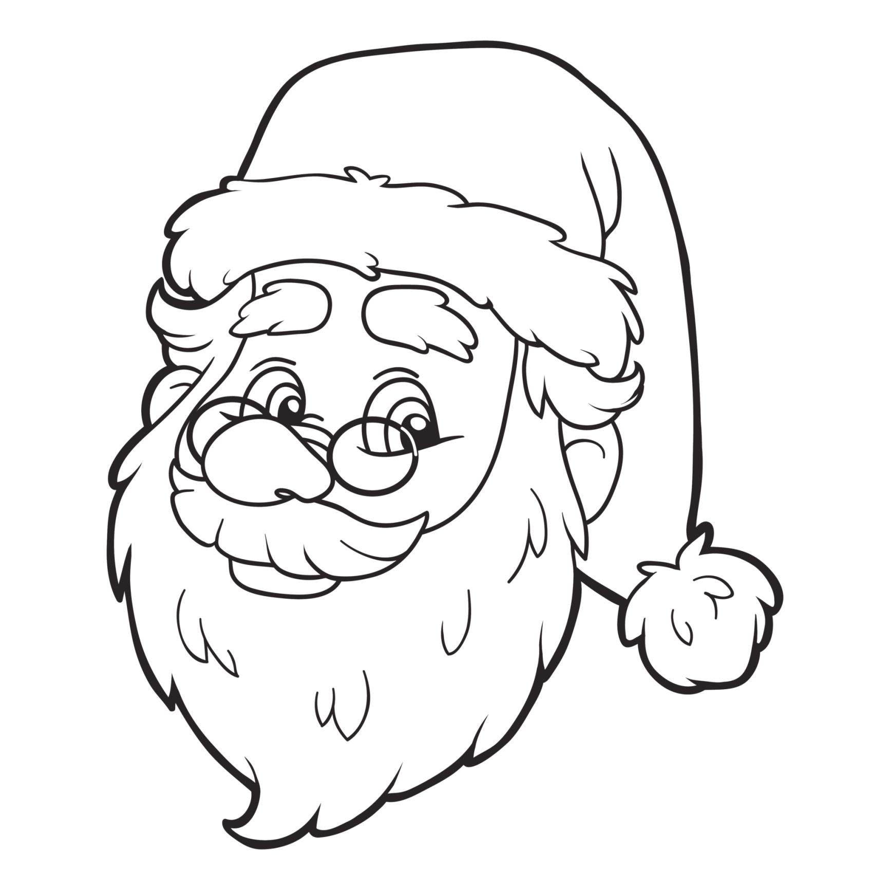 Coloriage De Noel : 20 Modeles A Imprimer - Famili.fr encequiconcerne Coloriage Père Noel Gratuit À Imprimer