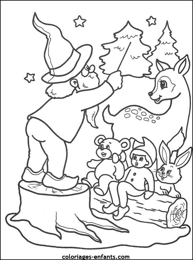 Coloriage De Noël À Imprimer Sur Coloriages-Enfants destiné Coloriage Noe