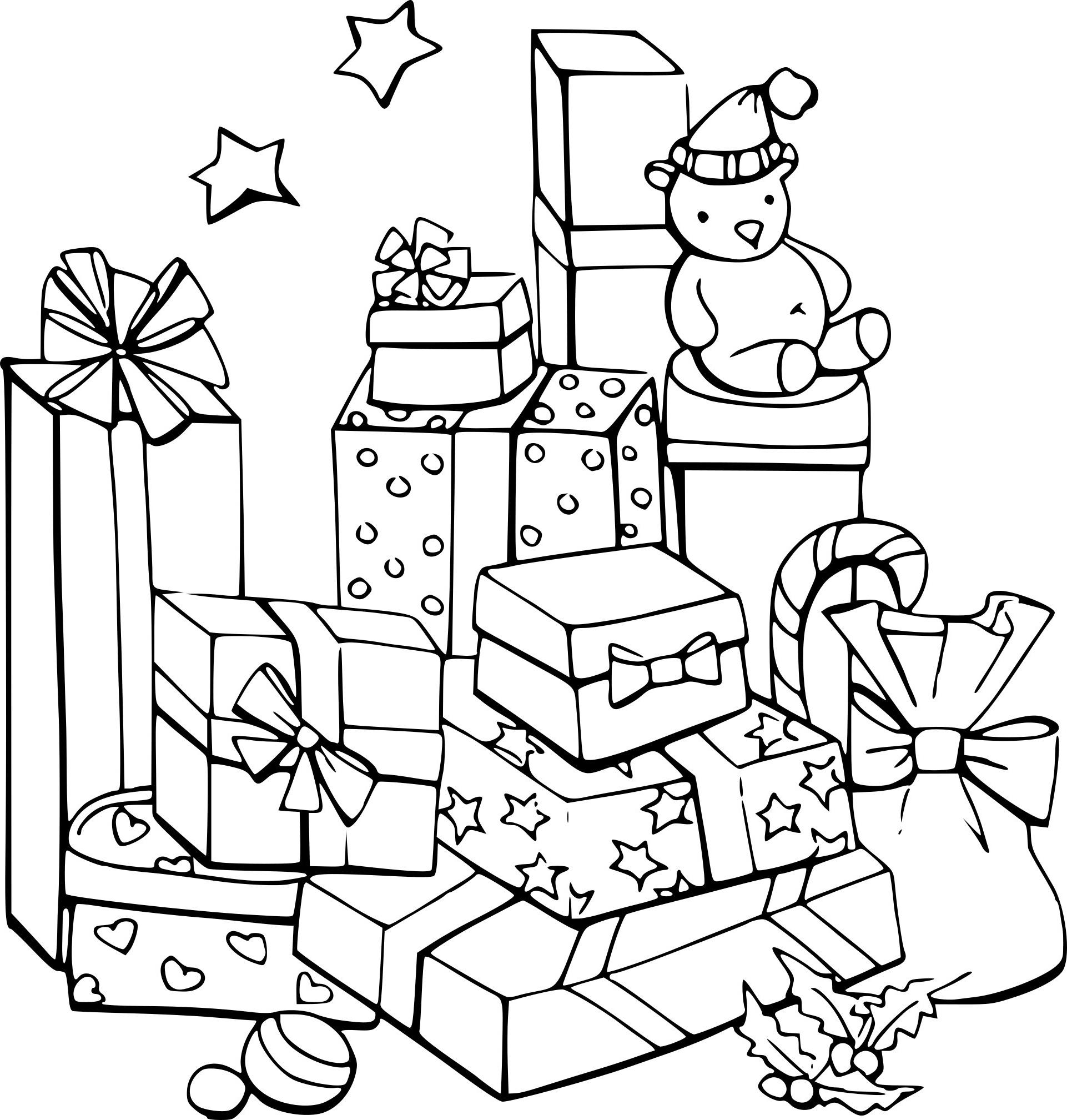 Coloriage De Noel Élégant Images Coloriage Cadeaux De Noel serapportantà Coloriage Cadeau De Noel