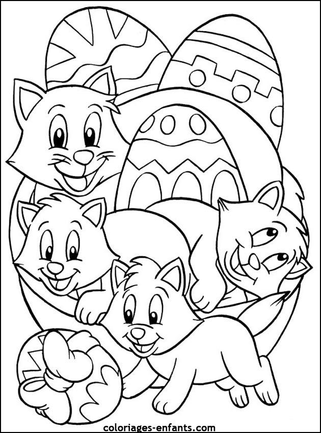 Coloriage De Pâques À Imprimer Sur Coloriages-Enfants pour Coloriage À Imprimer Paques