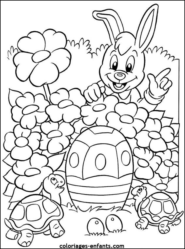 Coloriage De Pâques À Imprimer Sur Coloriages-Enfants pour Coloriages Paques À Imprimer
